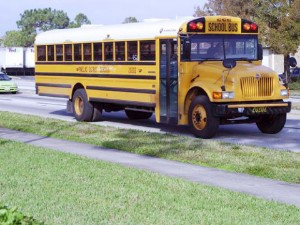 School Bus with White Top