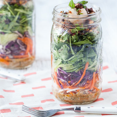 Mason Jar Salads from againstallgrain.com